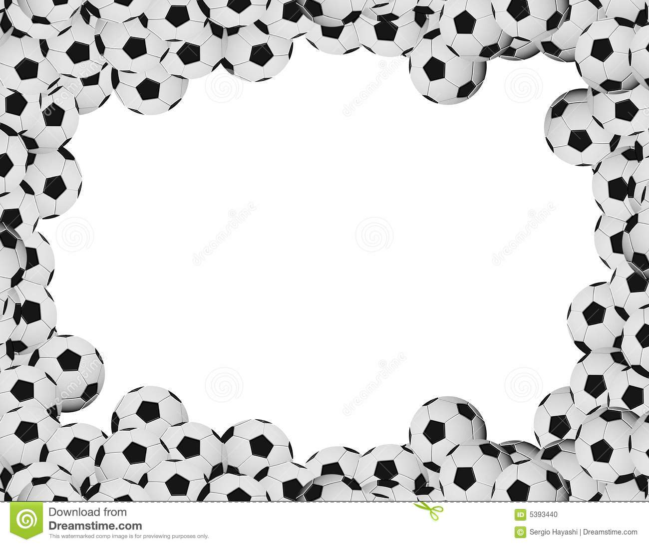 Soccer frame stock illustration. Illustration of sphere - 5393440