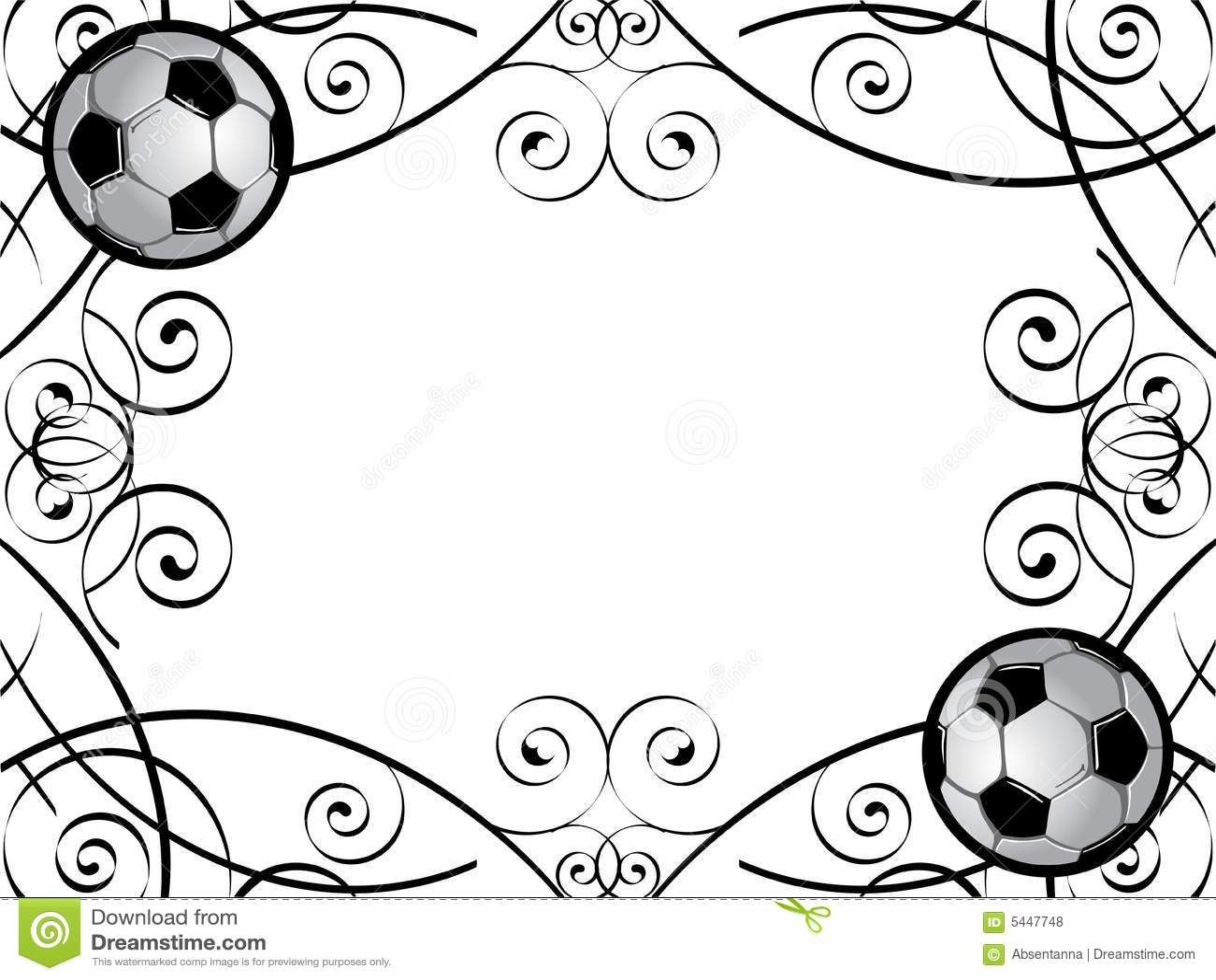 Soccer frame / border stock illustration. Illustration of decoration ...