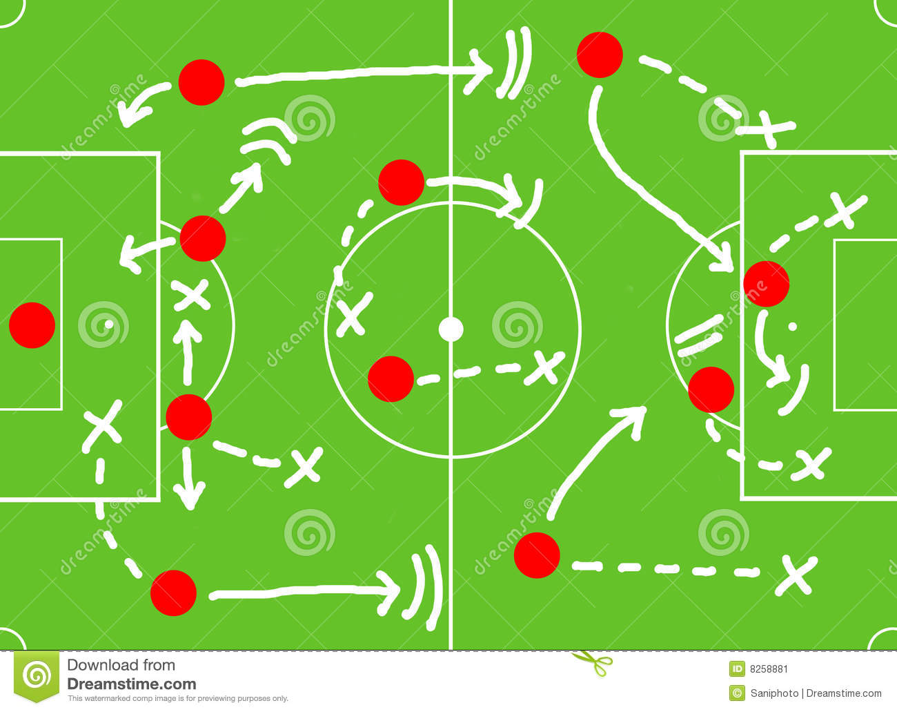 Clipart Of A Football Field