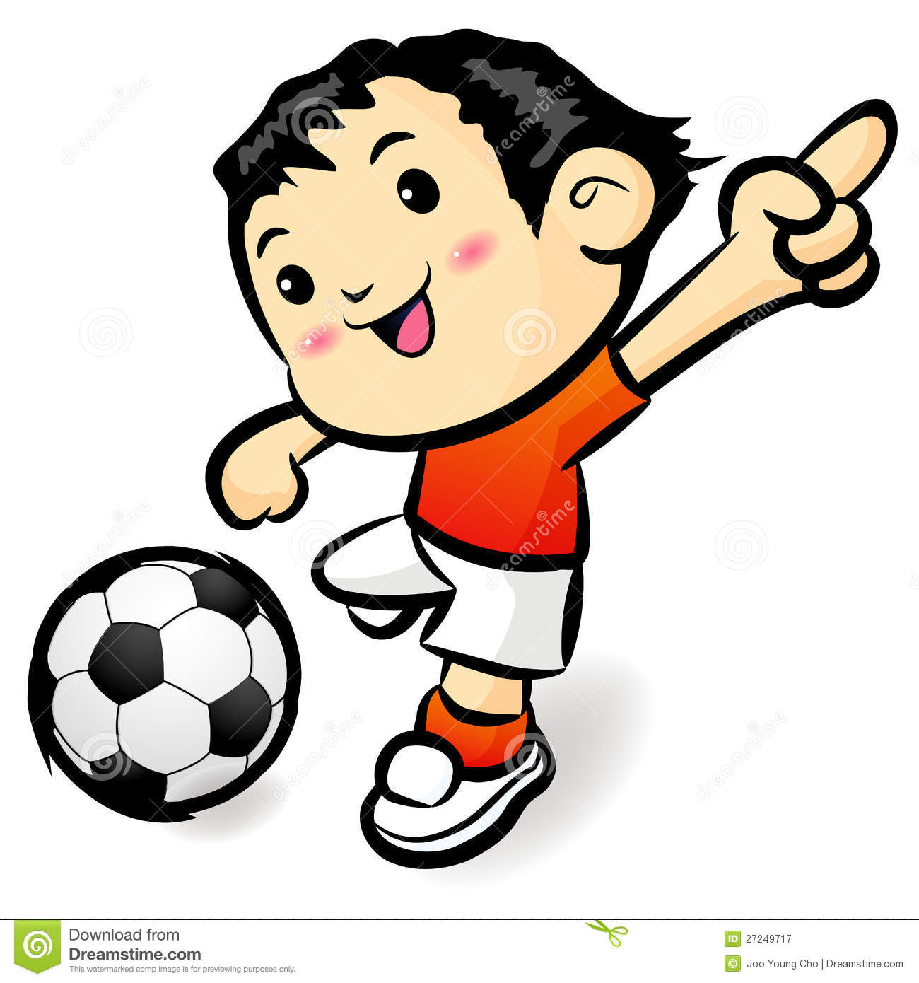 Cartoon Characters Playing Sports : Soccer games football player character stock illustration