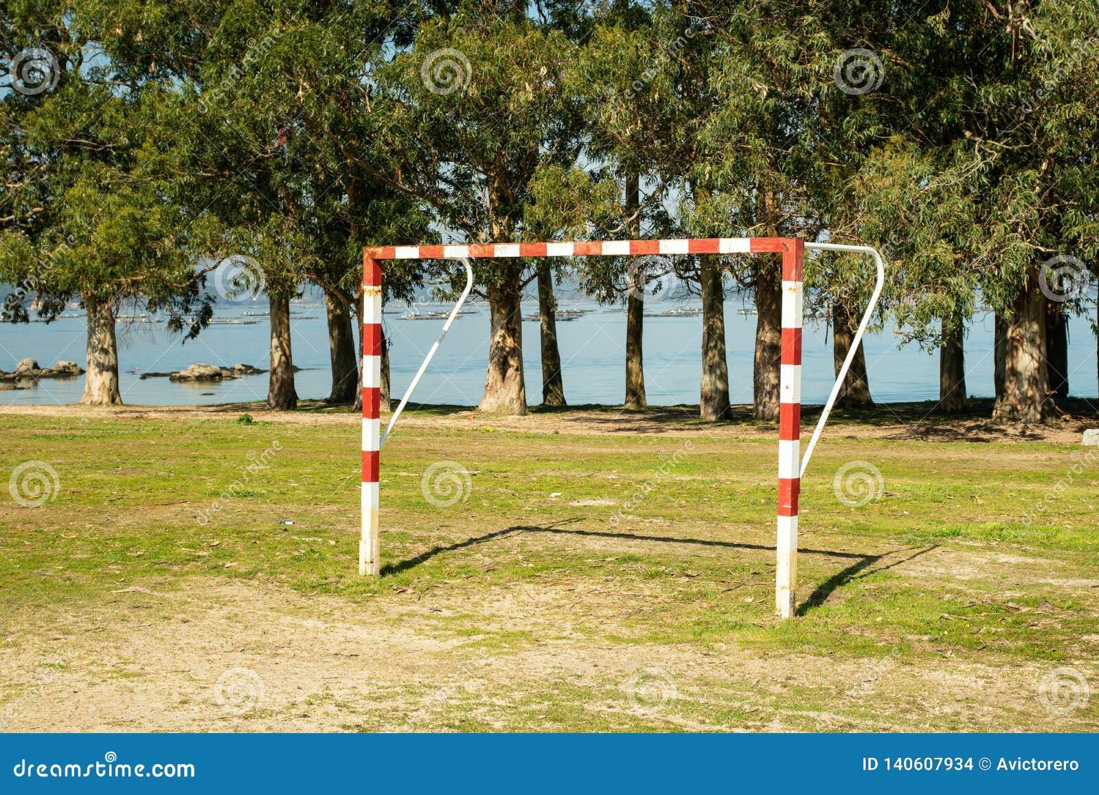 Soccer gate on amateur soccer court