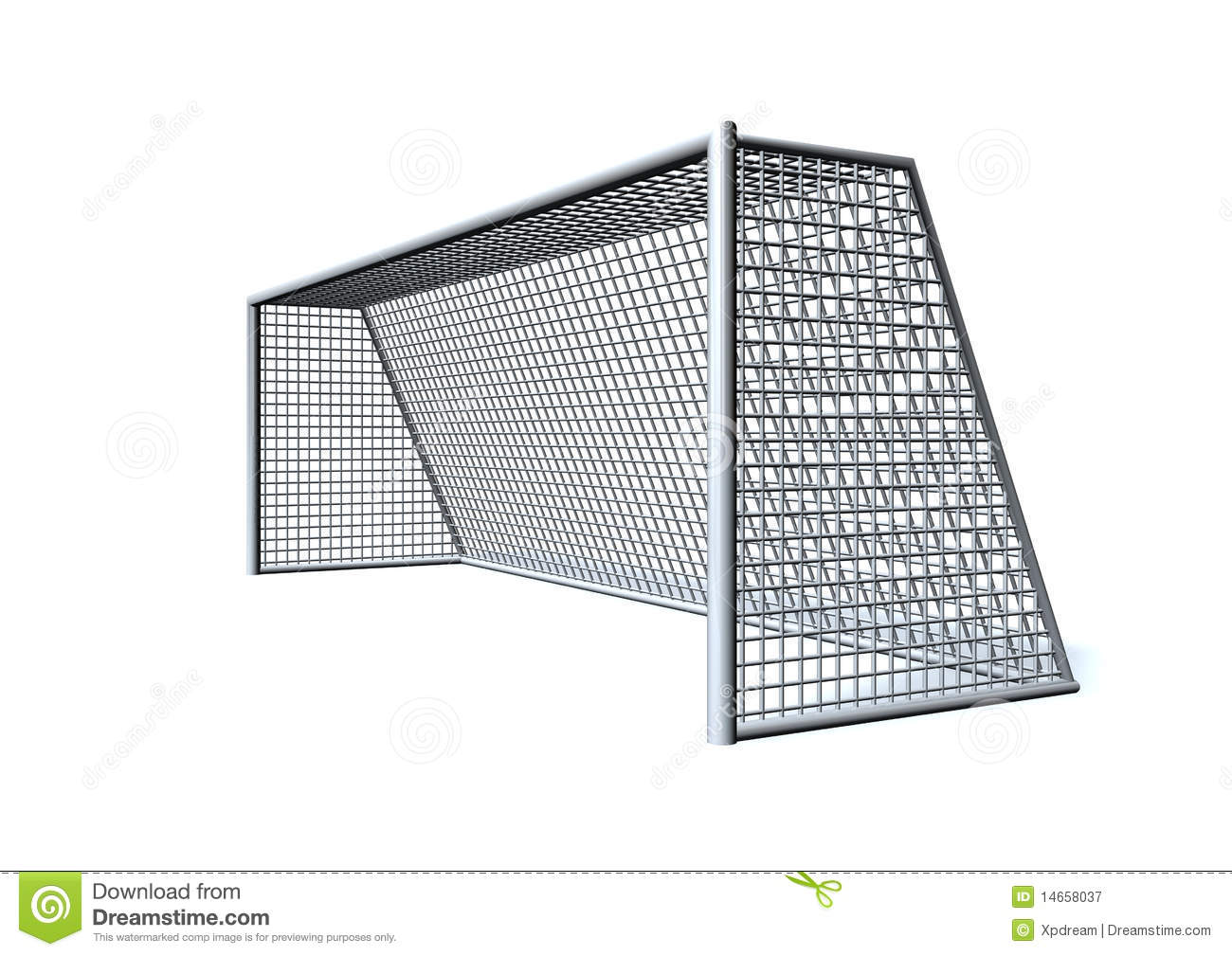 Soccer Goal Royalty Free Stock Photography - Image: 14658037