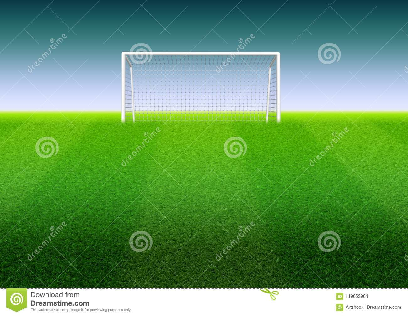 Soccer goal on the field