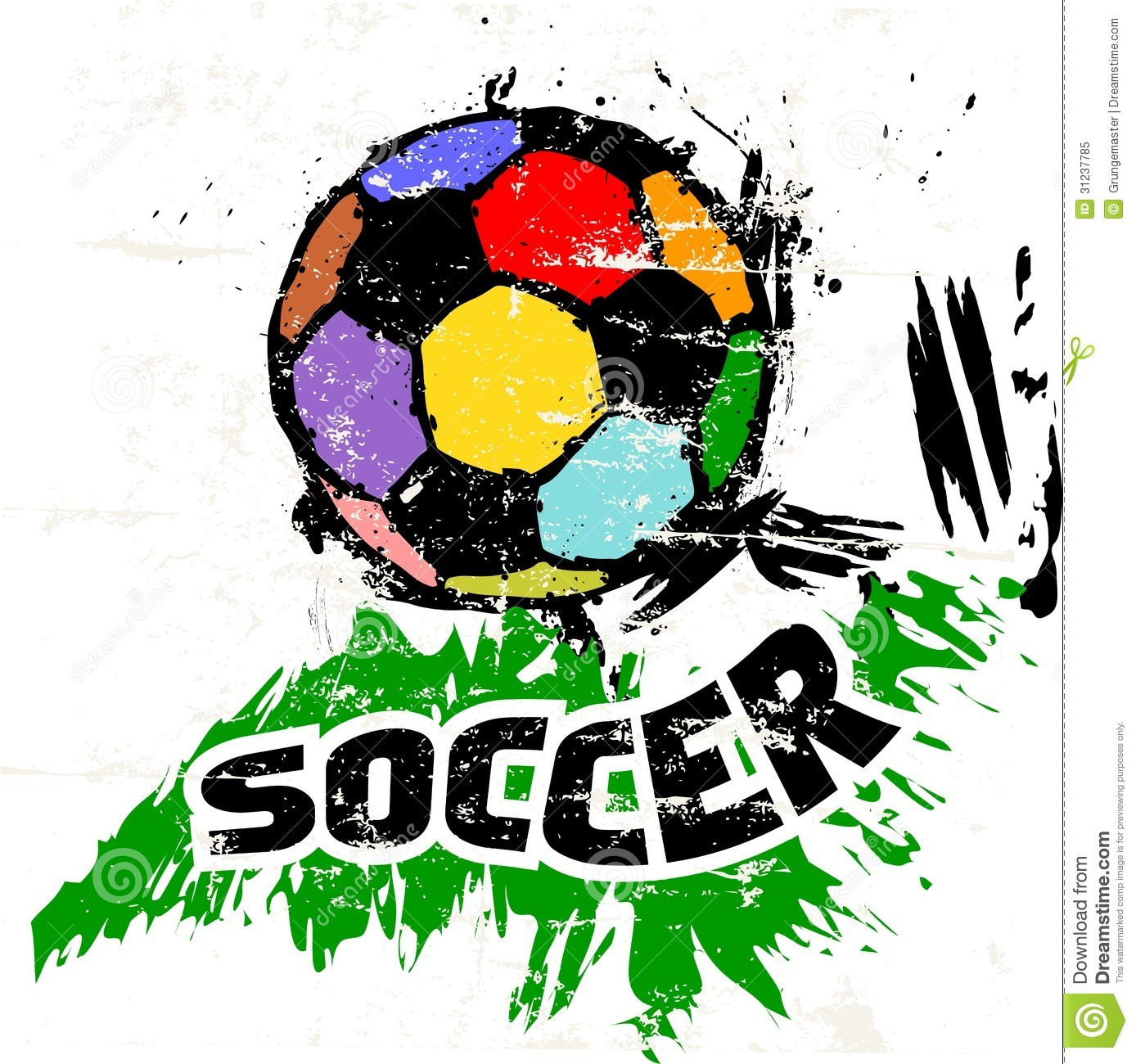 soccer illustration royalty free stock photo