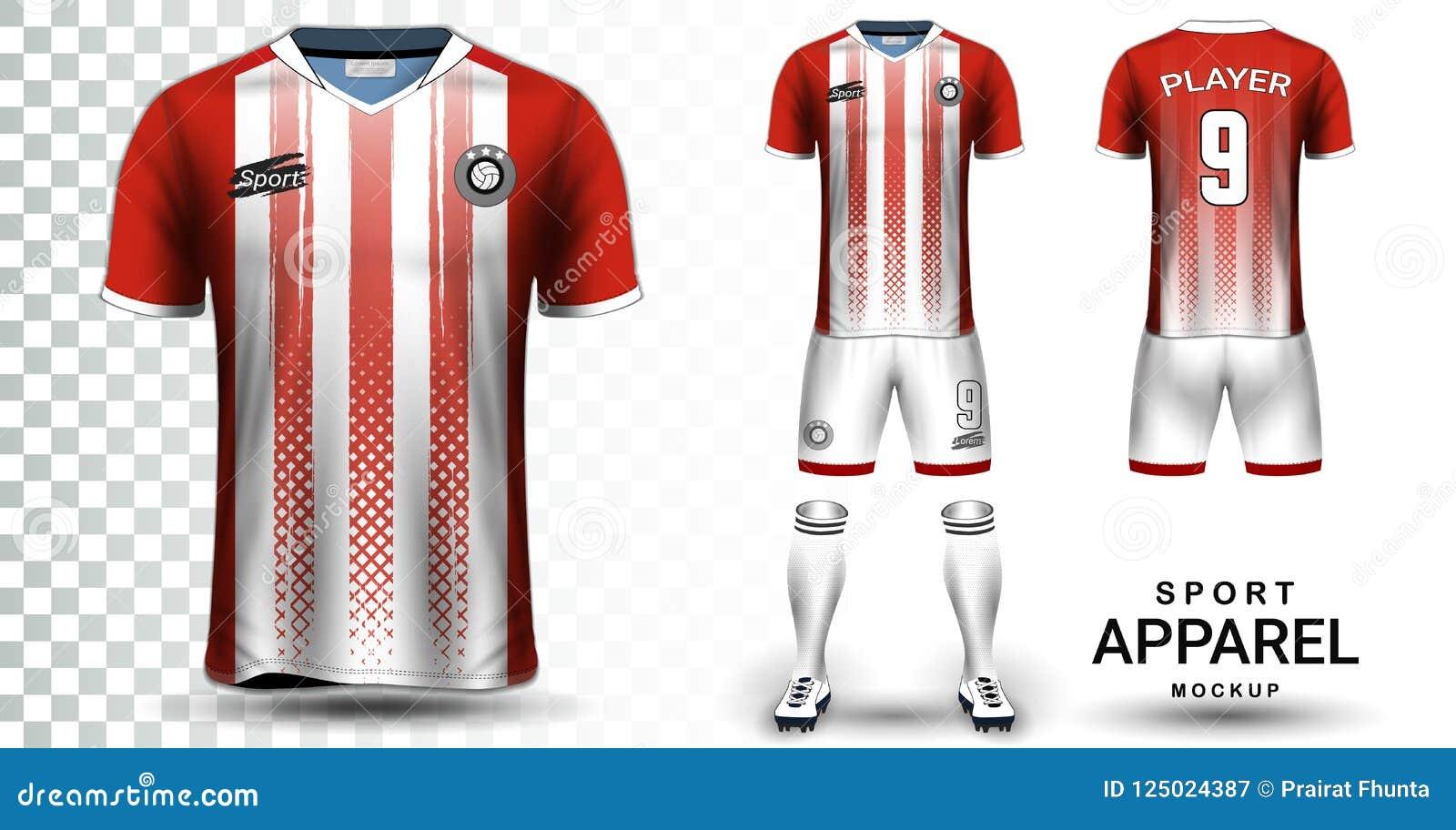 Soccer Jersey And Football Kit Presentation Mockup Template Stock ... 1da585da4