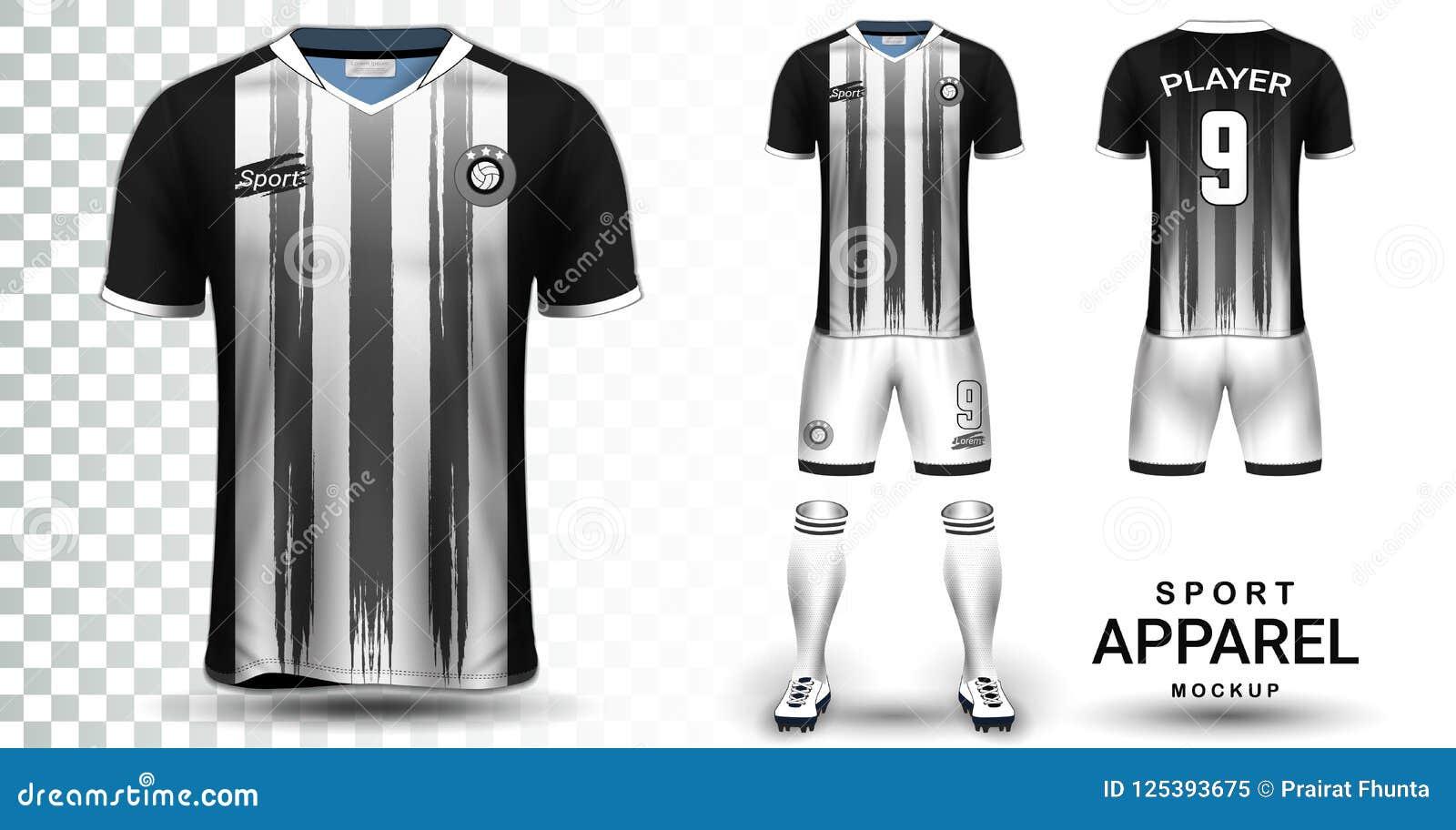 Soccer Jersey And Football Kit Presentation Mockup Template Stock