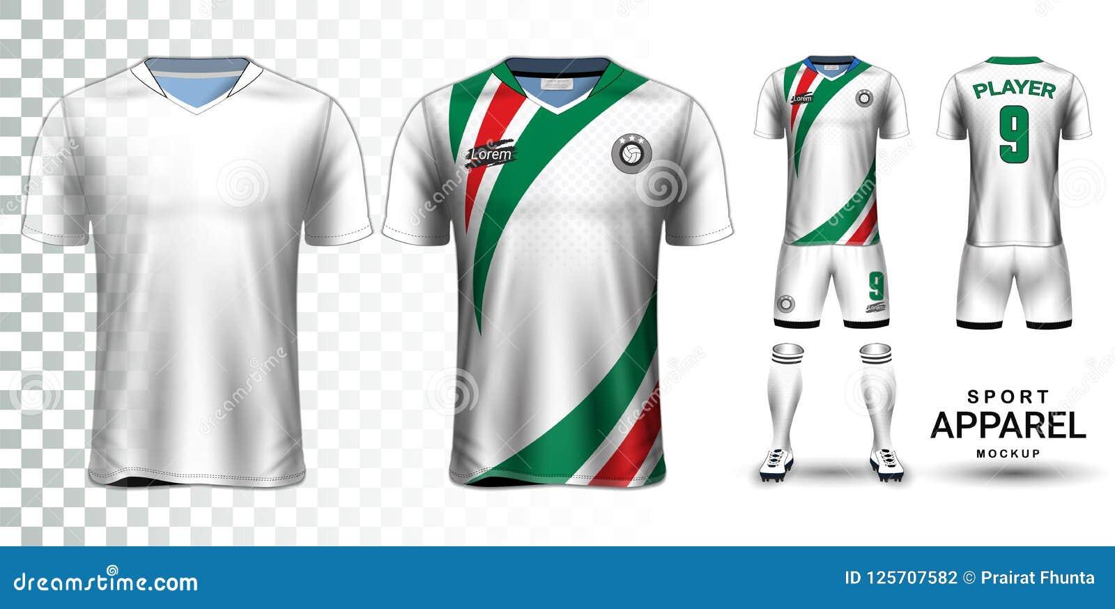 daa71eb6d Soccer Jersey And Football Kit Presentation Mockup Template Stock ...