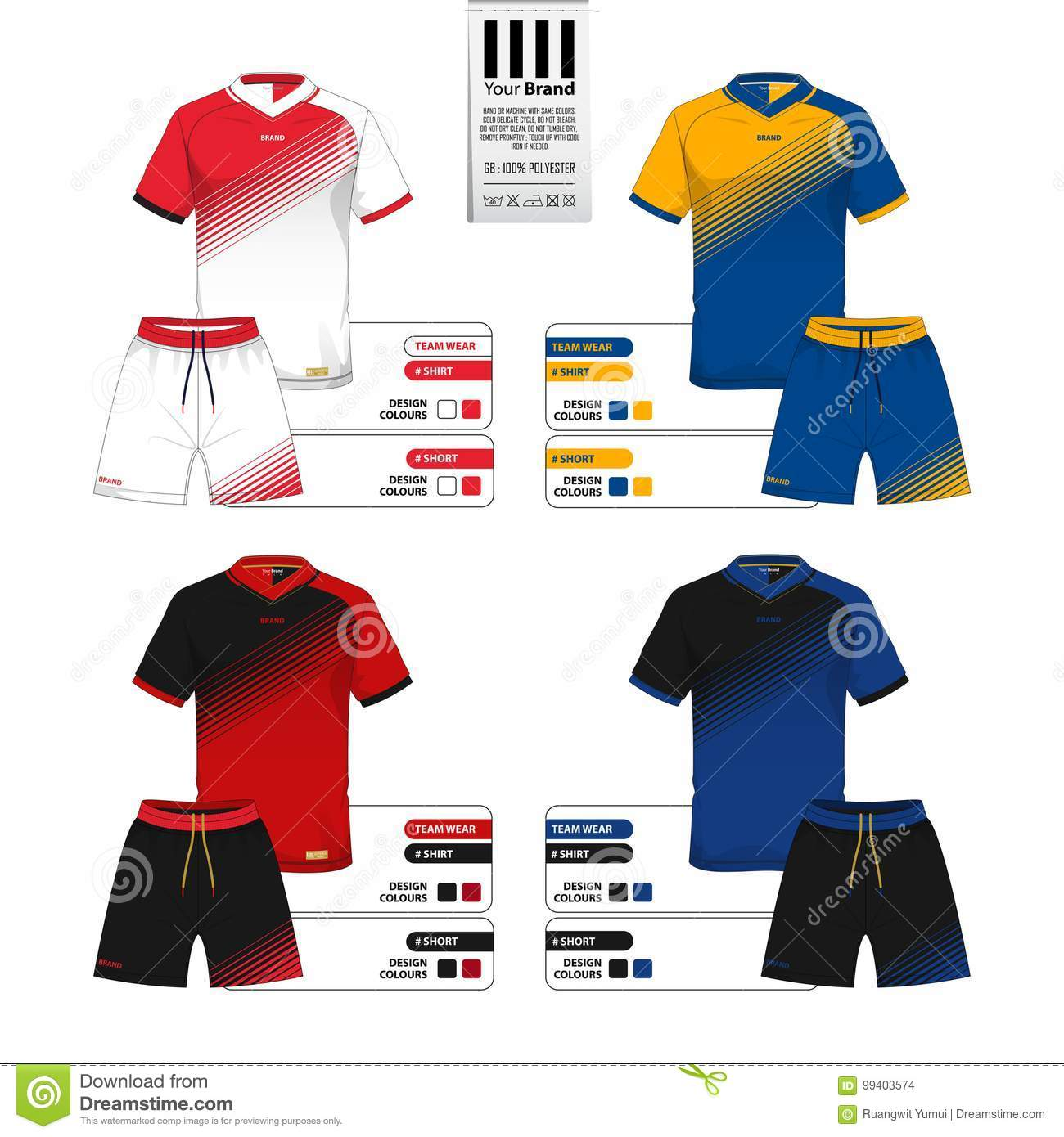 soccer jersey or football kit and short pant template for sportswear