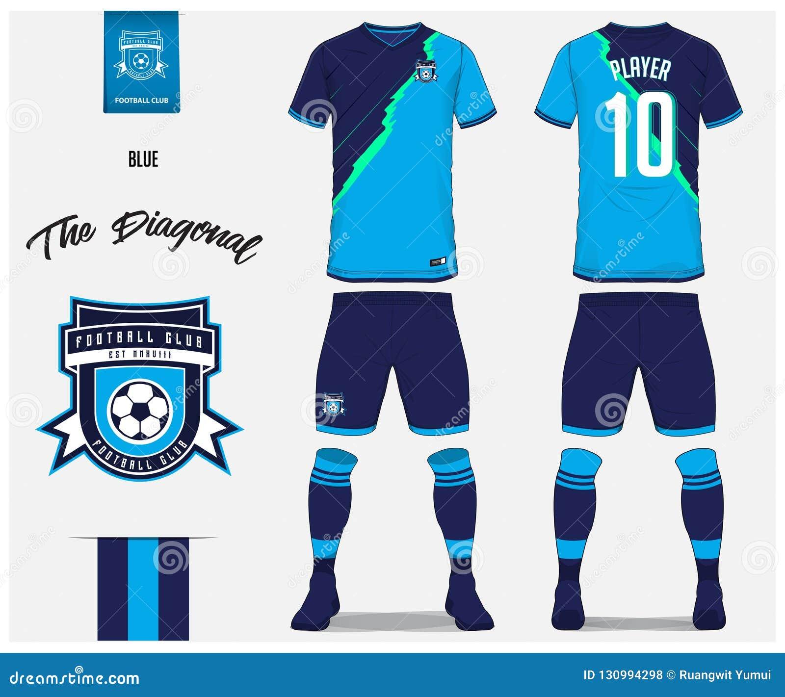 soccer jersey or football kit shorts sock template design for