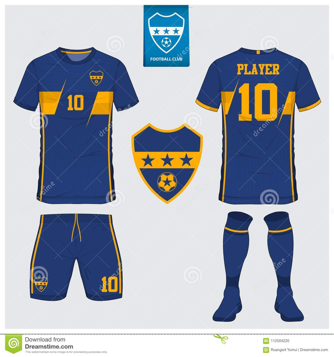 75f74698d Soccer Jersey Or Football Kit Template For Football Club. Short ...