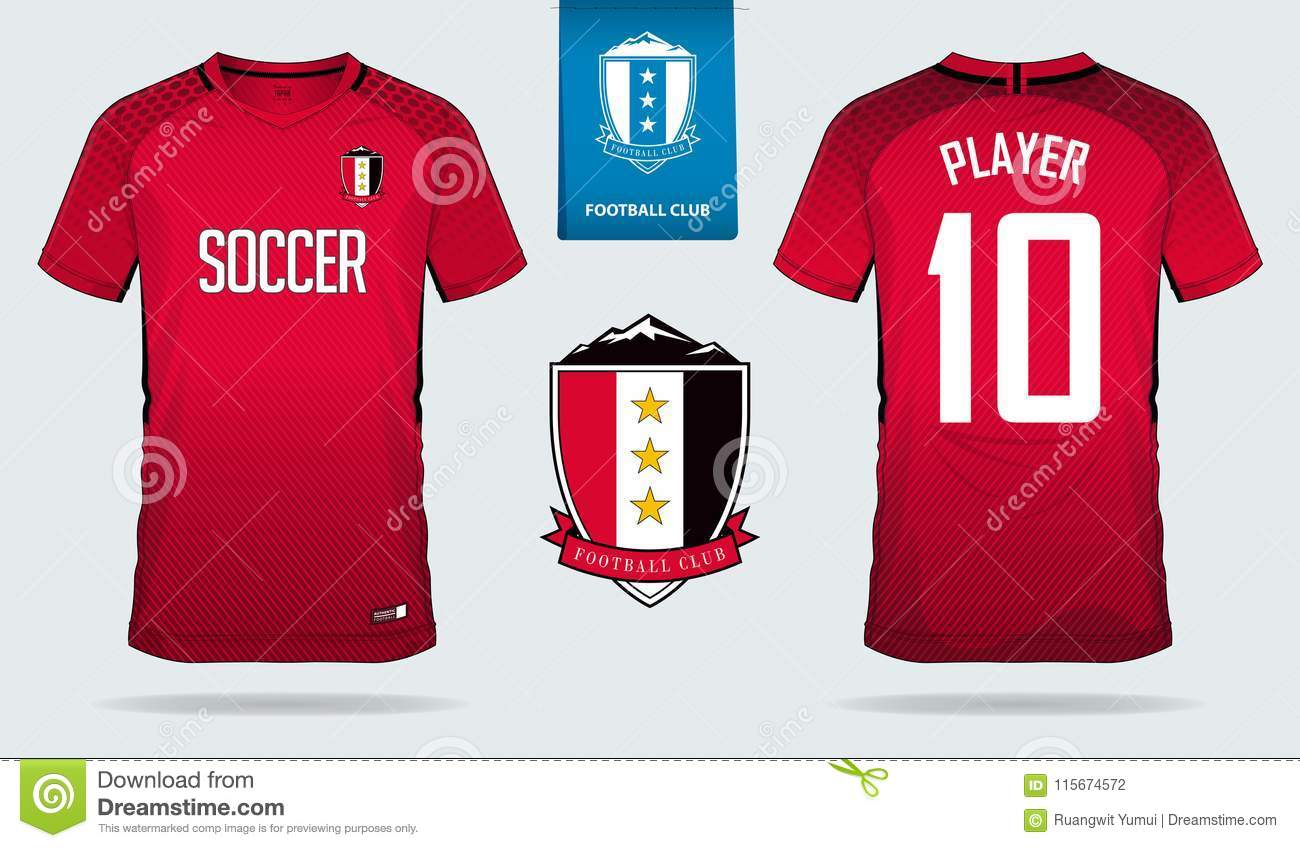 soccer jersey or football kit template for football club short