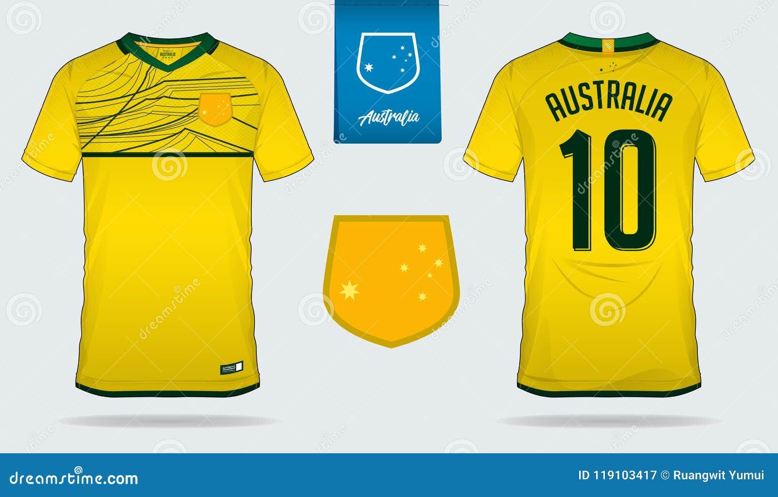 soccer jersey or football kit template design for australia national