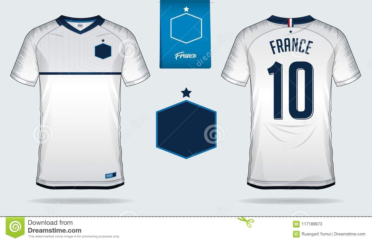 new product a7503 c5694 Soccer Jersey Or Football Kit Template Design For France ...