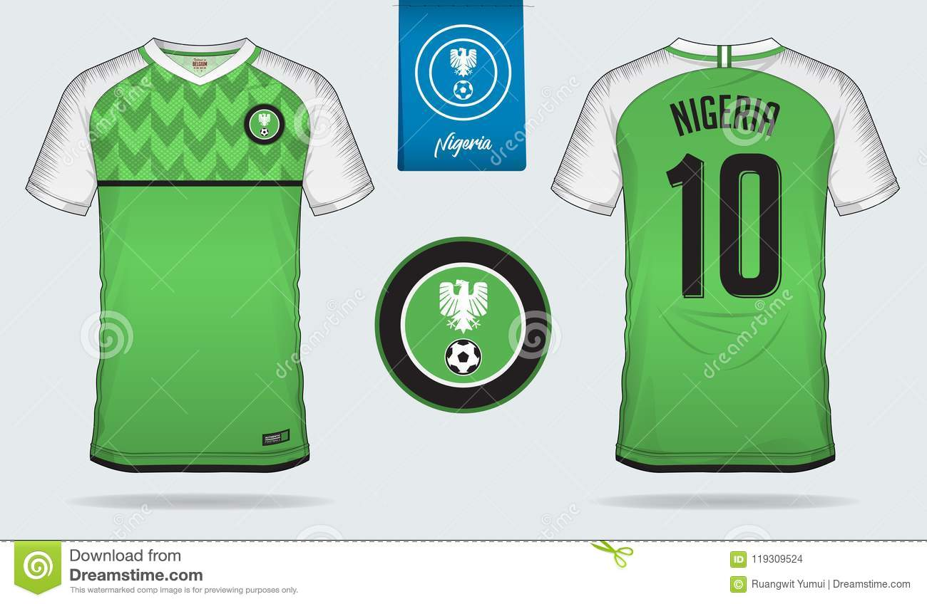 new style 18420 5879d Soccer Jersey Or Football Kit Template Design For Nigeria ...