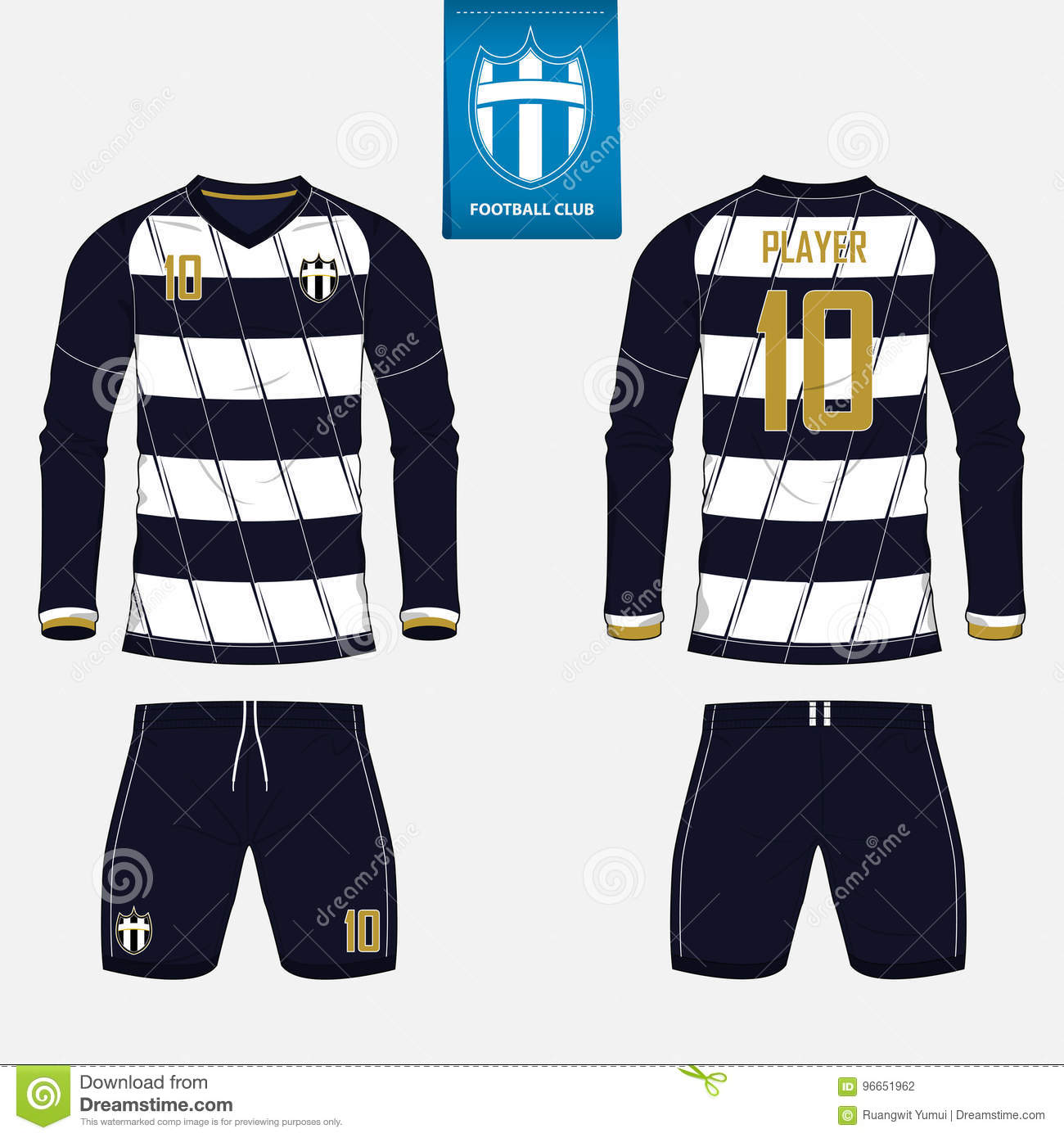 soccer jersey or football kit template for football club football