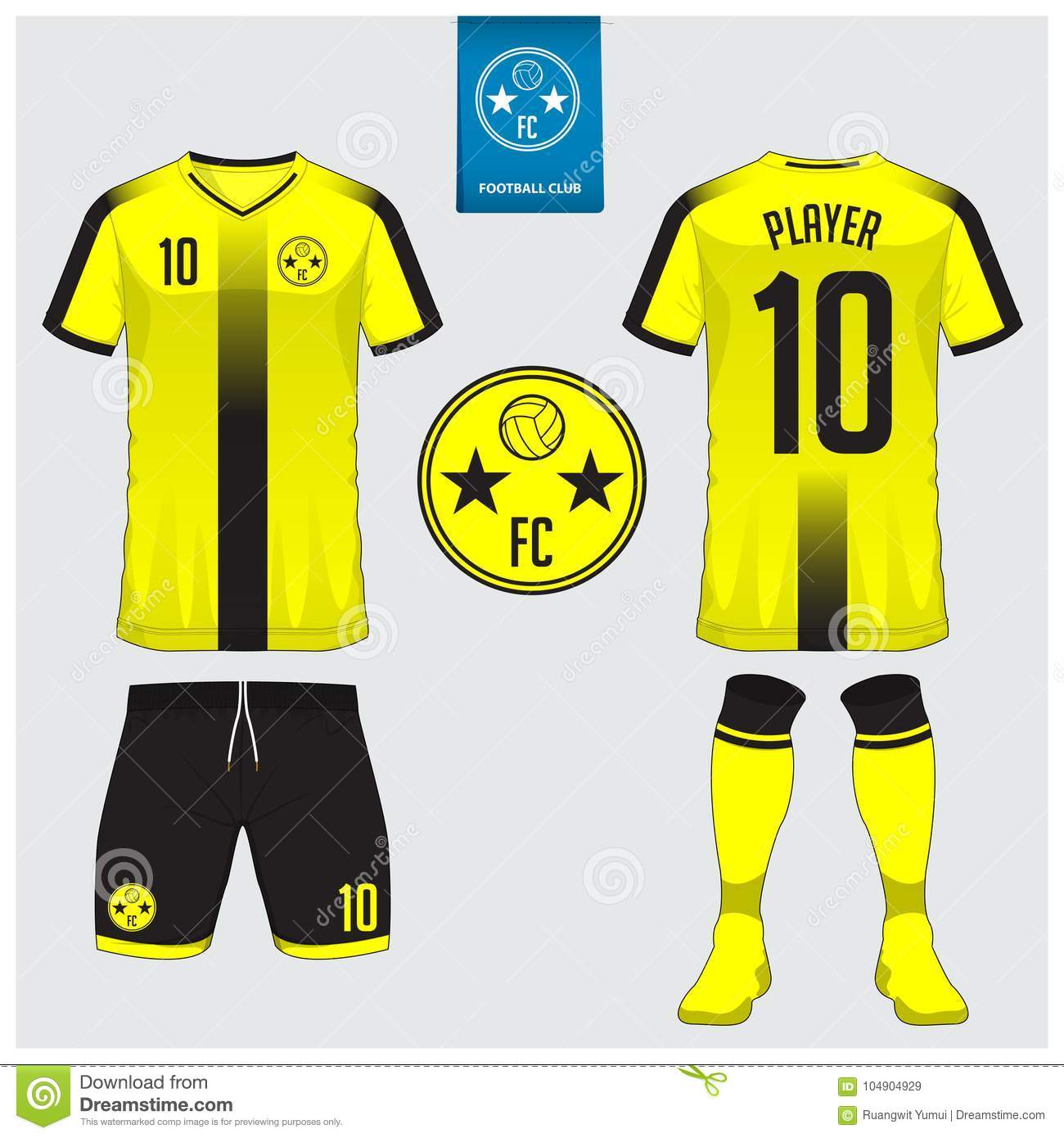 Soccer jersey or football kit template for football club. Football shirt  mock up. Front 89fc8d7c4