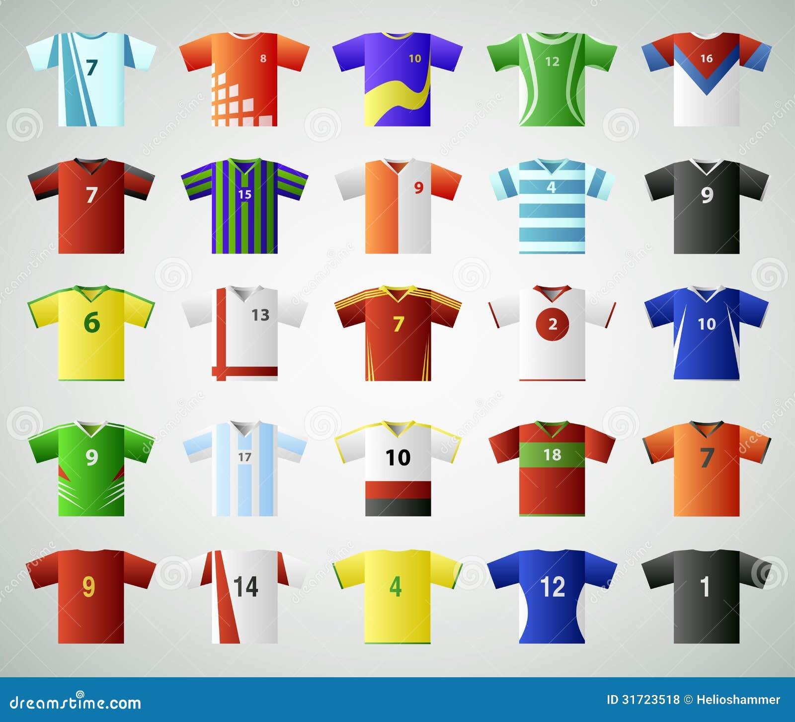 Soccer Jersey T-shirt Set Royalty Free Stock Photos