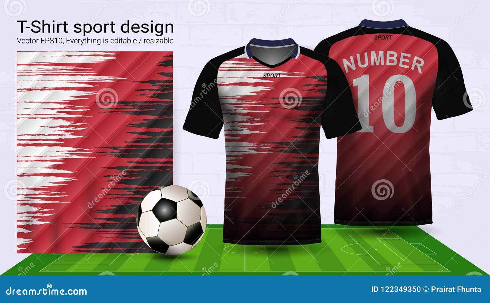 1bbfa35f871 Soccer Jersey And T-shirt Sport Mockup Template
