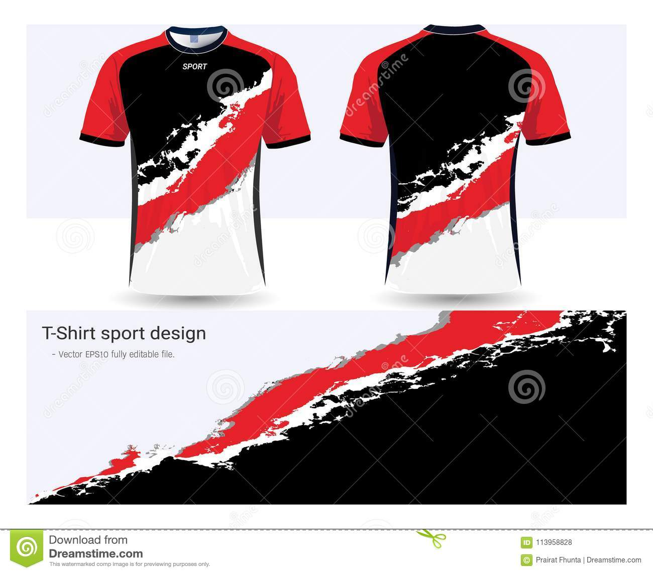 Soccer Jersey And T-shirt Sports Design Template Stock Vector ...