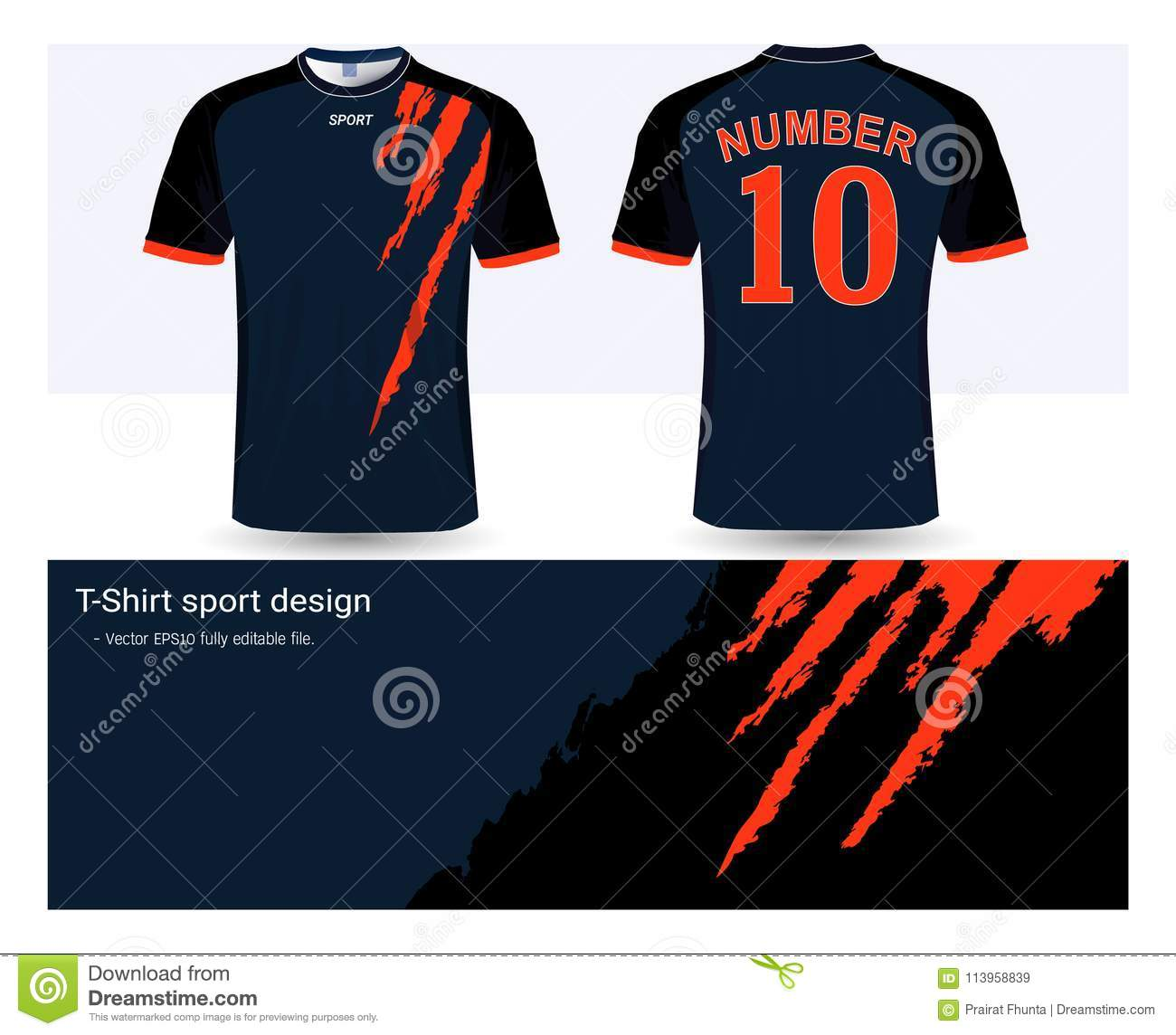 soccer jersey and t shirt sports design template stock vector