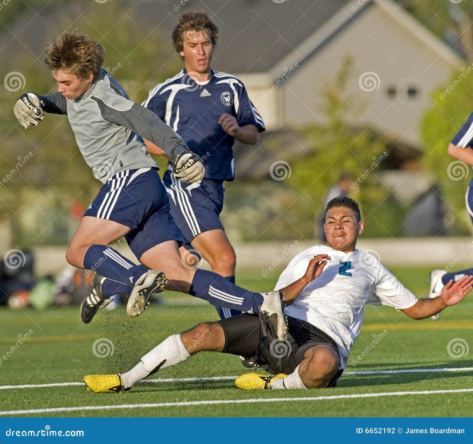 Soccer keeper trip