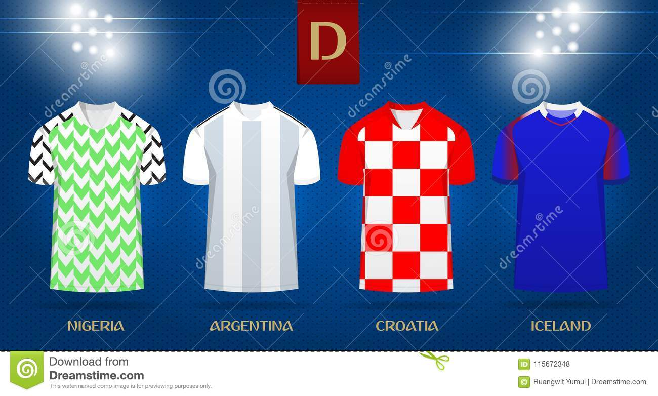 27c932d45b7 Soccer kit or football jersey template design for national football team.  Front view soccer uniform
