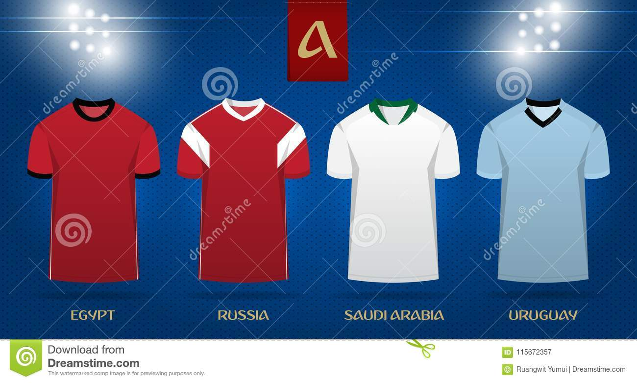finest selection 4f2c3 848ed Soccer Kit Or Football Jersey Template Design For National ...