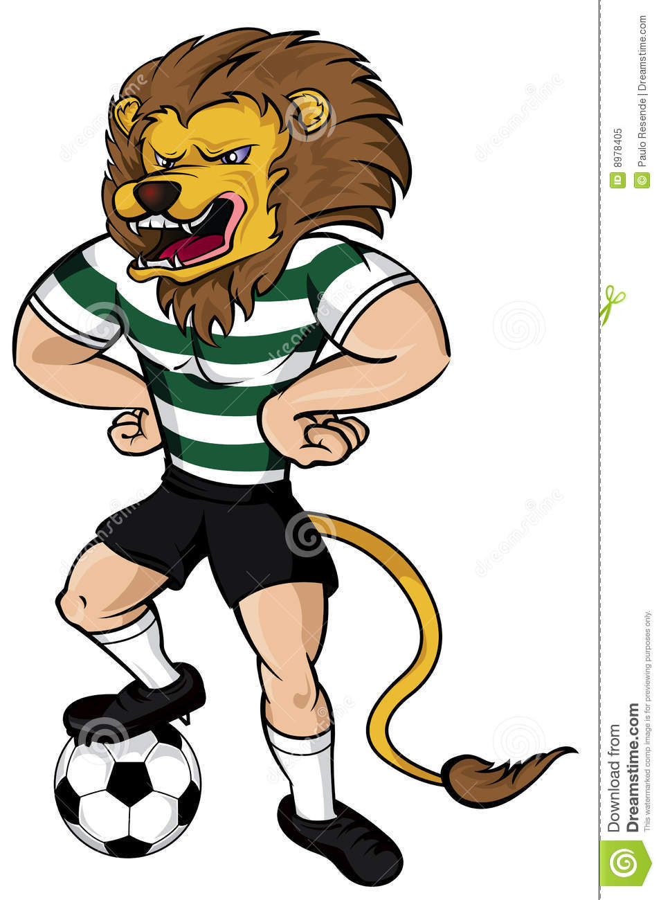 Soccer Lion Mascot Royalty Free Stock Photo Image 8978405