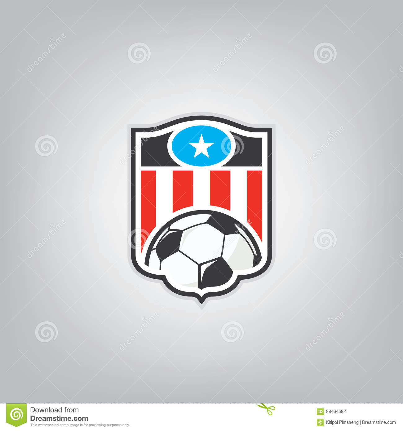 soccer logo design template stock vector illustration of crest