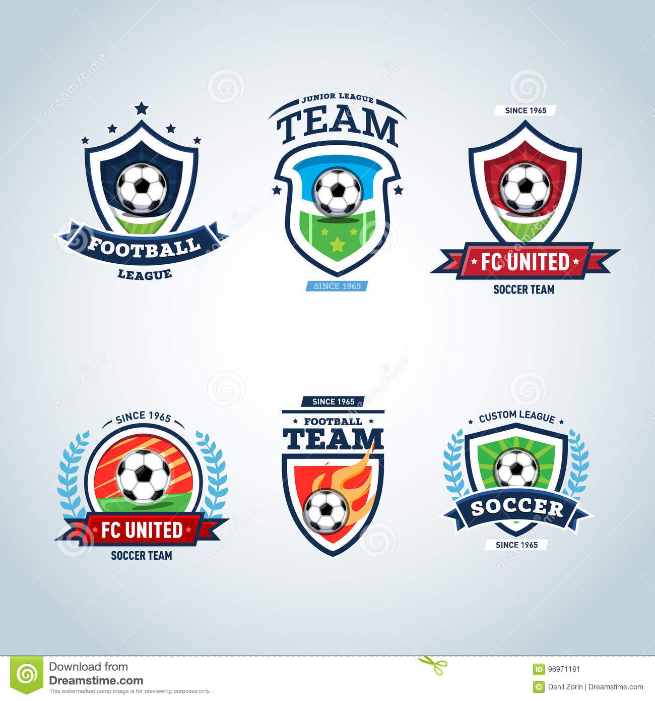 soccer logo football logo set of soccer football crests and logo