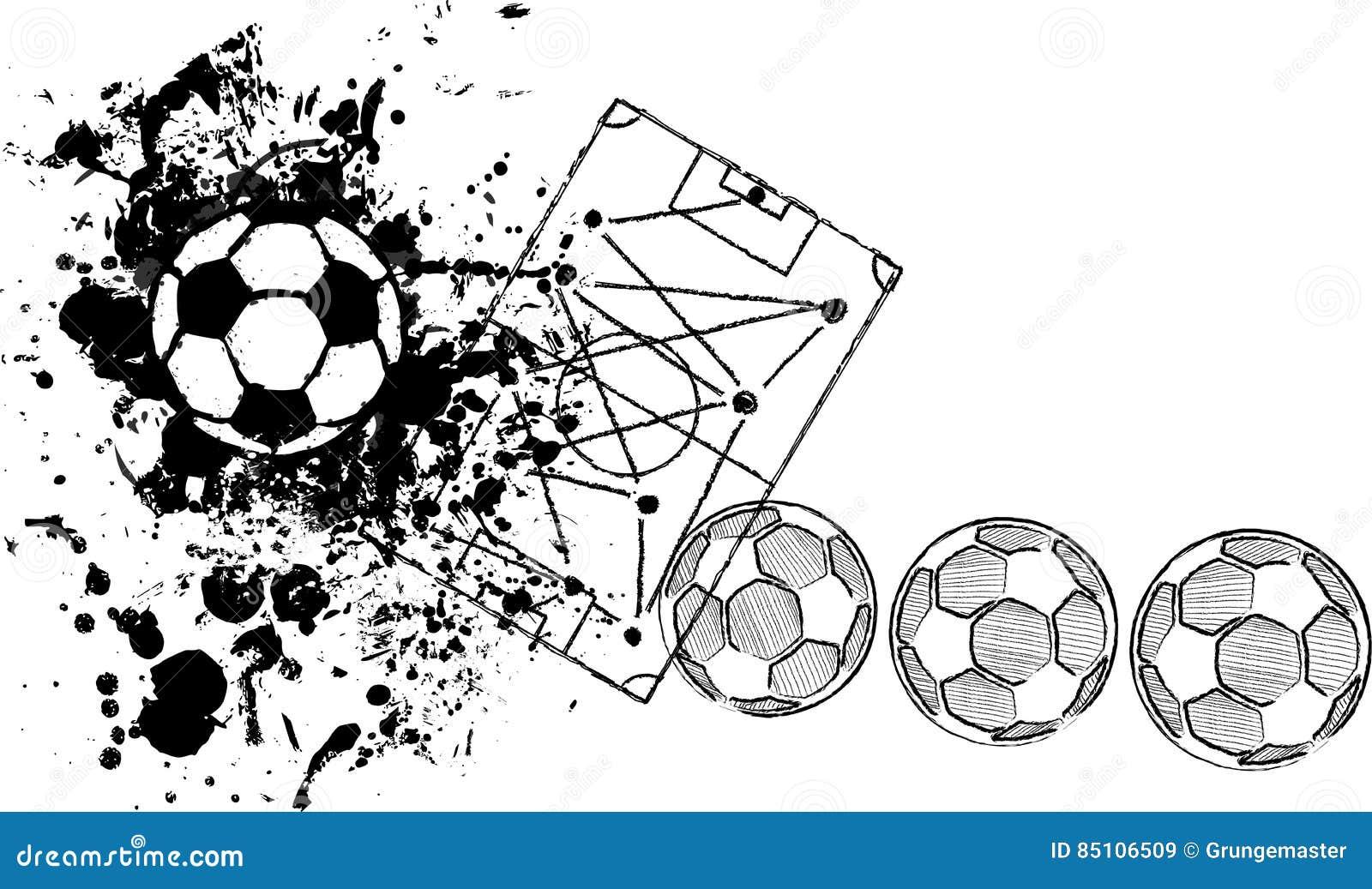soccer o football design template stock vector illustration of