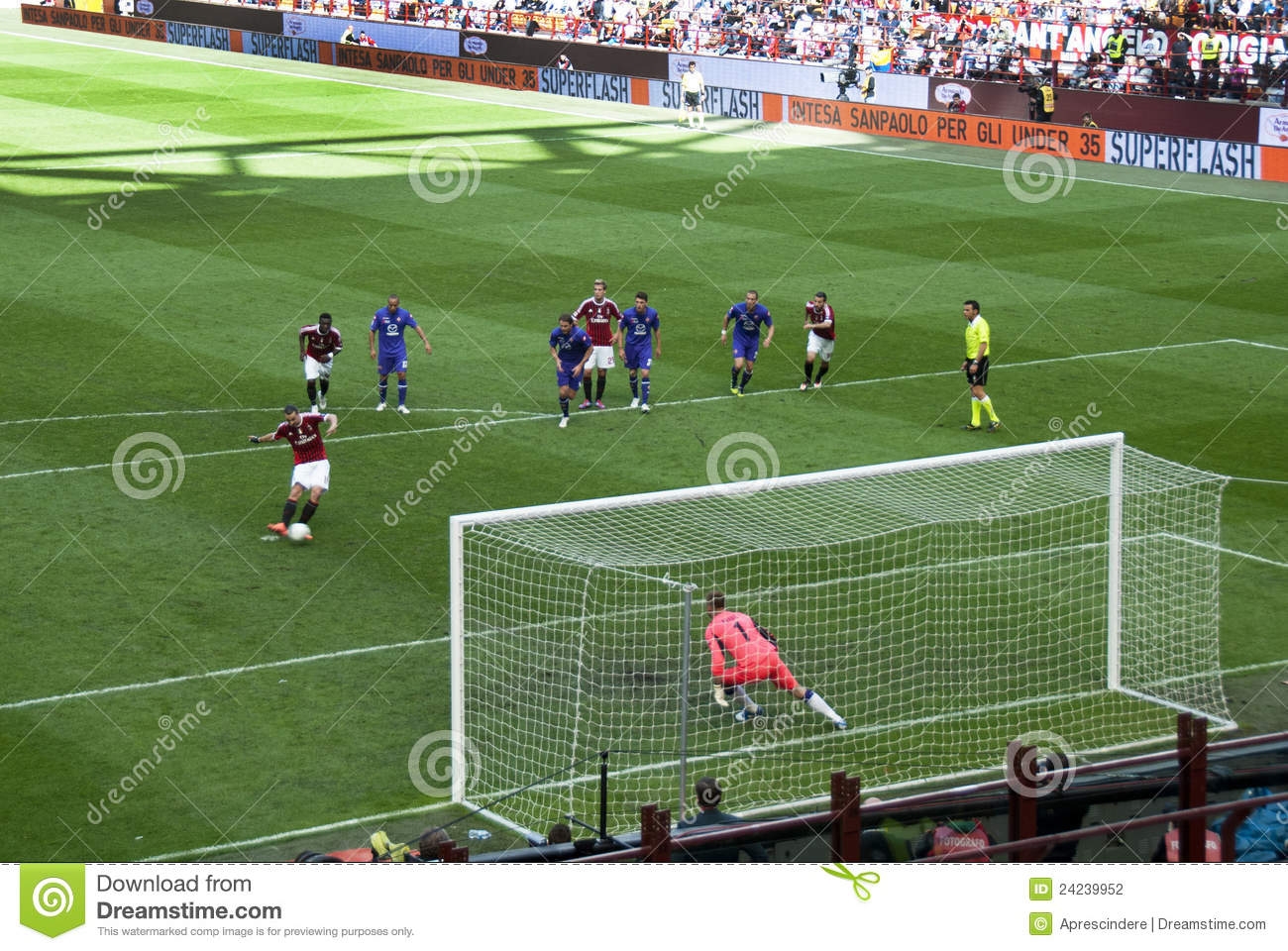 Soccer - the penalty kick editorial photography. Image of ...