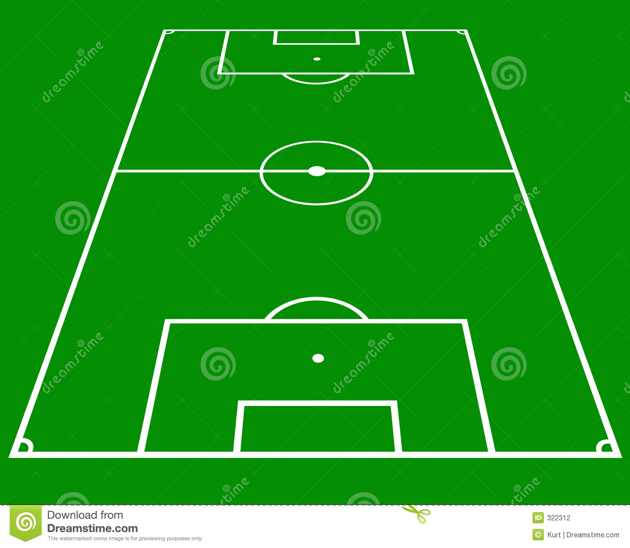 Soccer Pitch Stock Illustration Image Of Design Layout