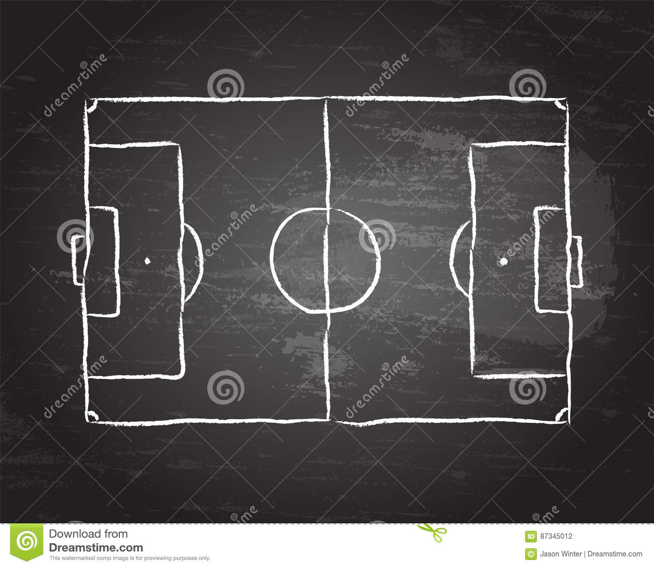 soccer pitch blackboard football diagram 87345012 soccer pitch blackboard stock vector illustration of sketch 87345012