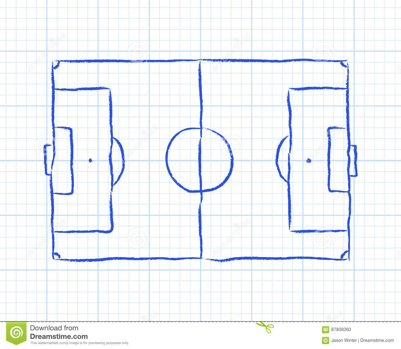 soccer pitch graph paper football diagram background 87809260 soccer pitch graph paper stock vector illustration of sport 87809260