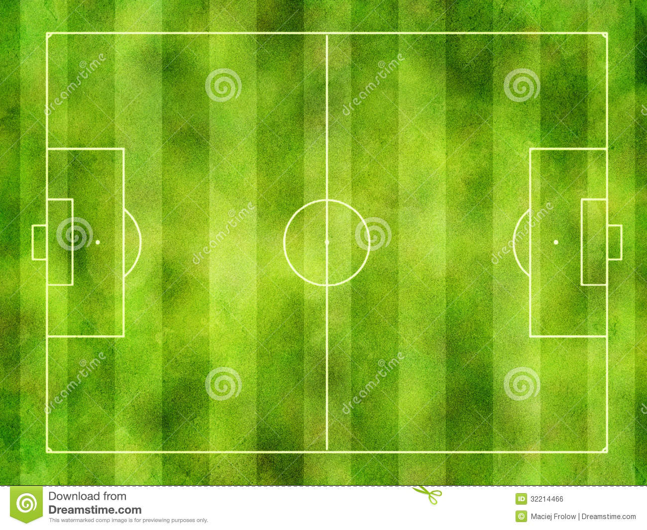 Soccer pitch stock photo. Image of textured, above, football - 32214466