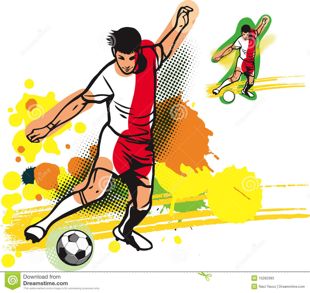 Soccer player graphics