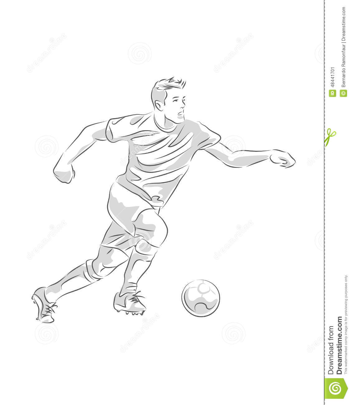 This is a picture of Ambitious Drawing Soccer Players