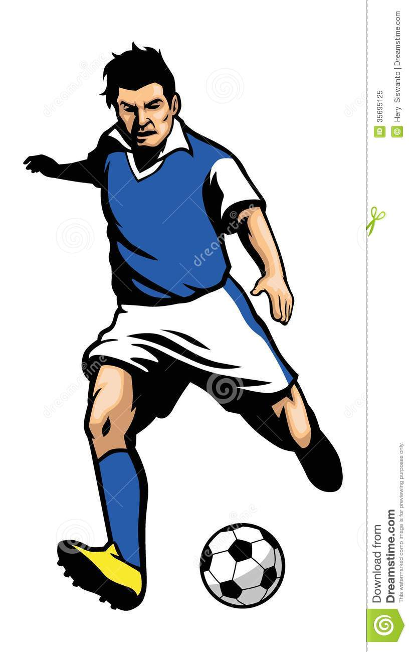 Soccer Player Shooting A Ball Royalty Free Stock Photo - Image ...