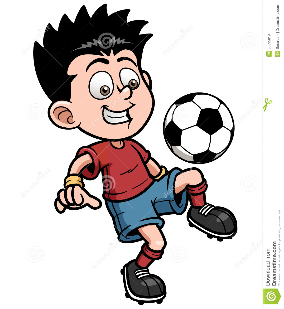soccer player stock vector illustration of sport smiling 30595818