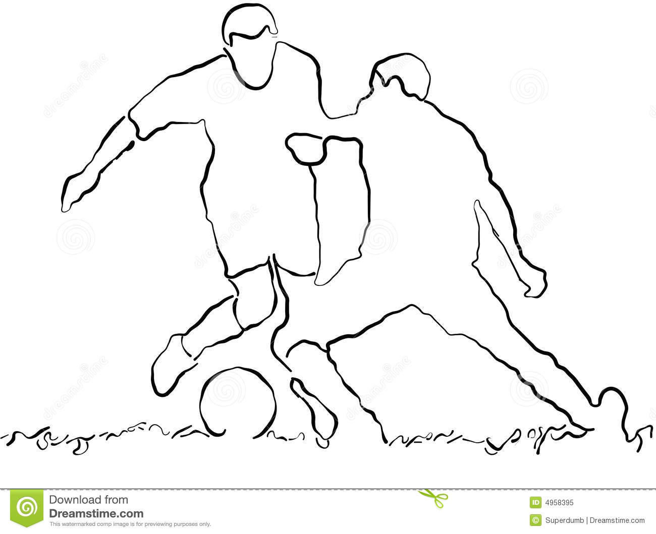 Soccer Players Sketch Soccer Sketches Drawings