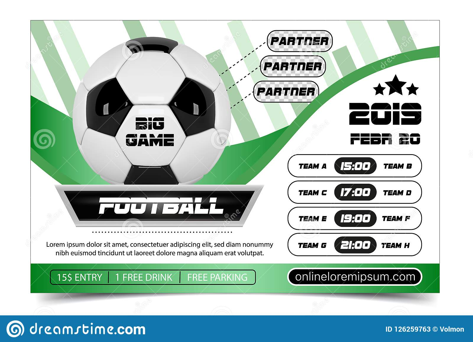 Soccer Poster Design. Football Ball Flyer Concept. Design For Sport ...