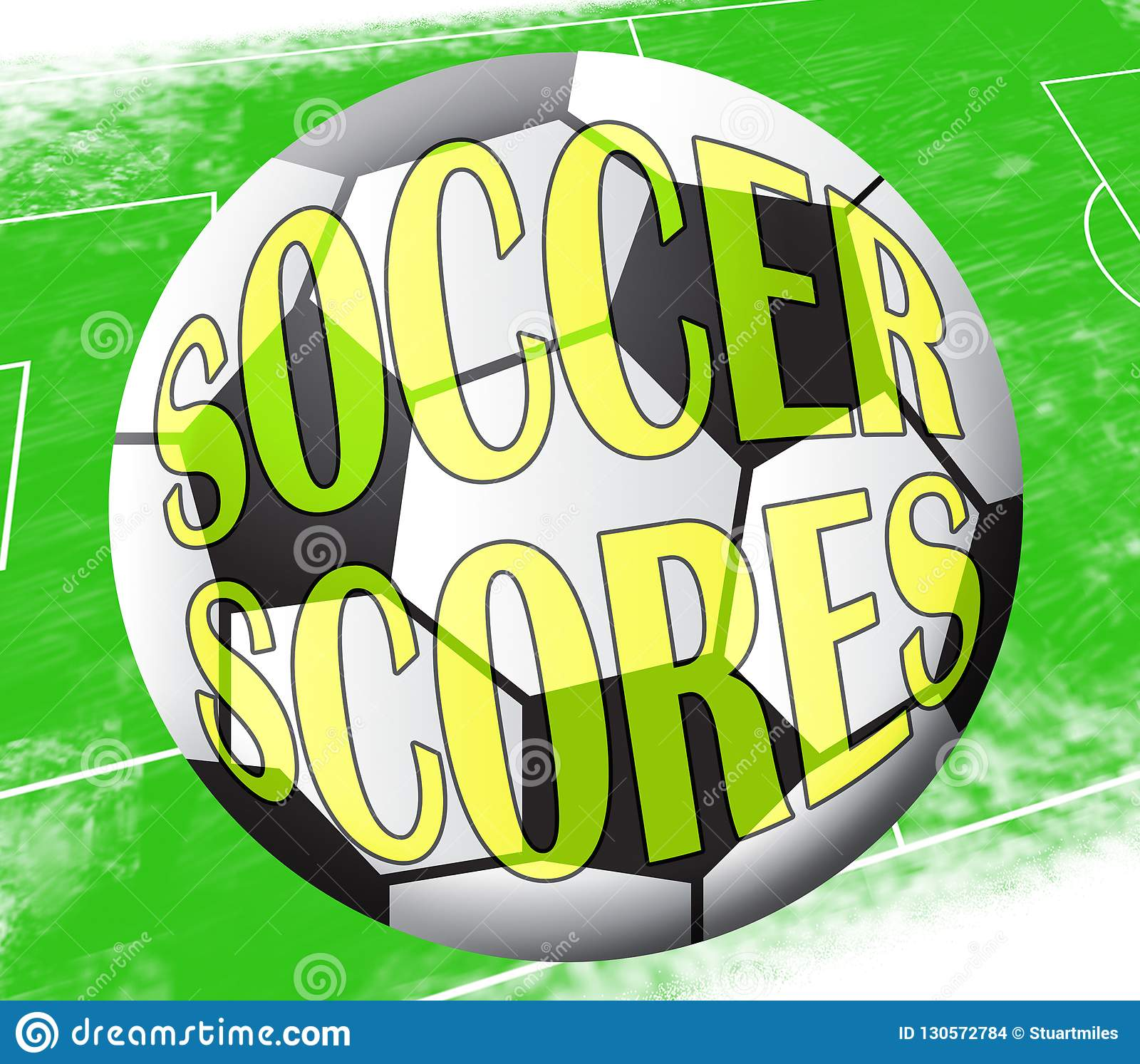 Soccer Scores Means Football Results 3d Illustration Stock