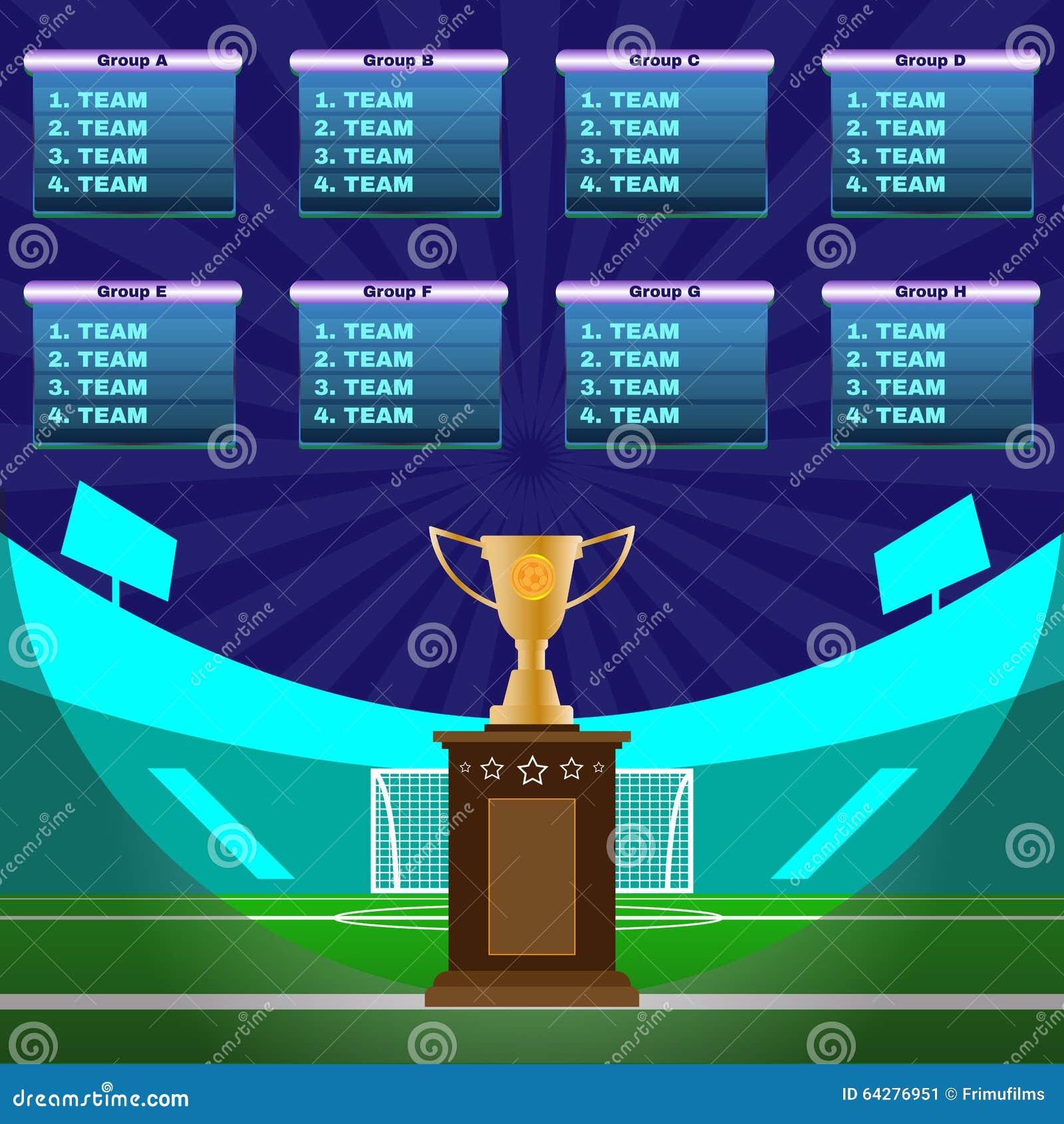 soccer stadium championship stock vector