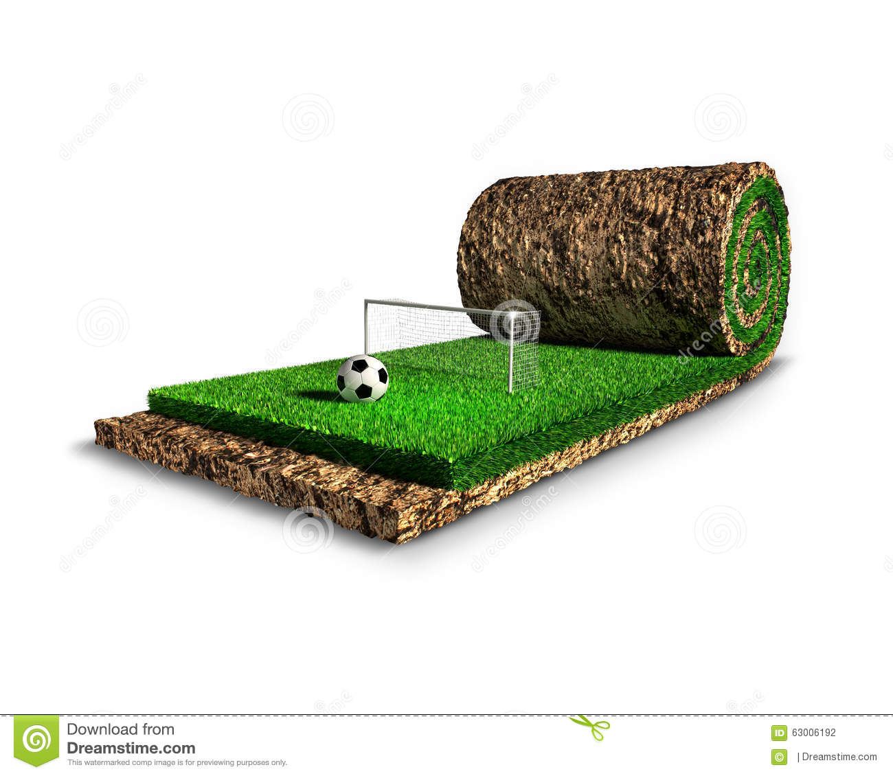 Soccer Surreal Concept Stock Illustration Image Of Roll