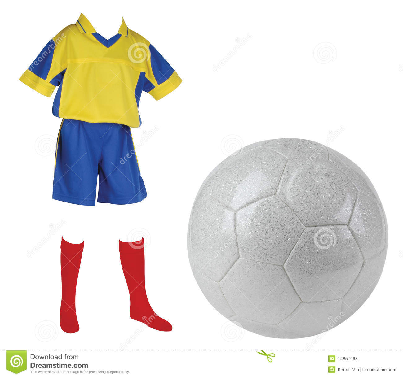 Soccer T-Shirt. Isolated