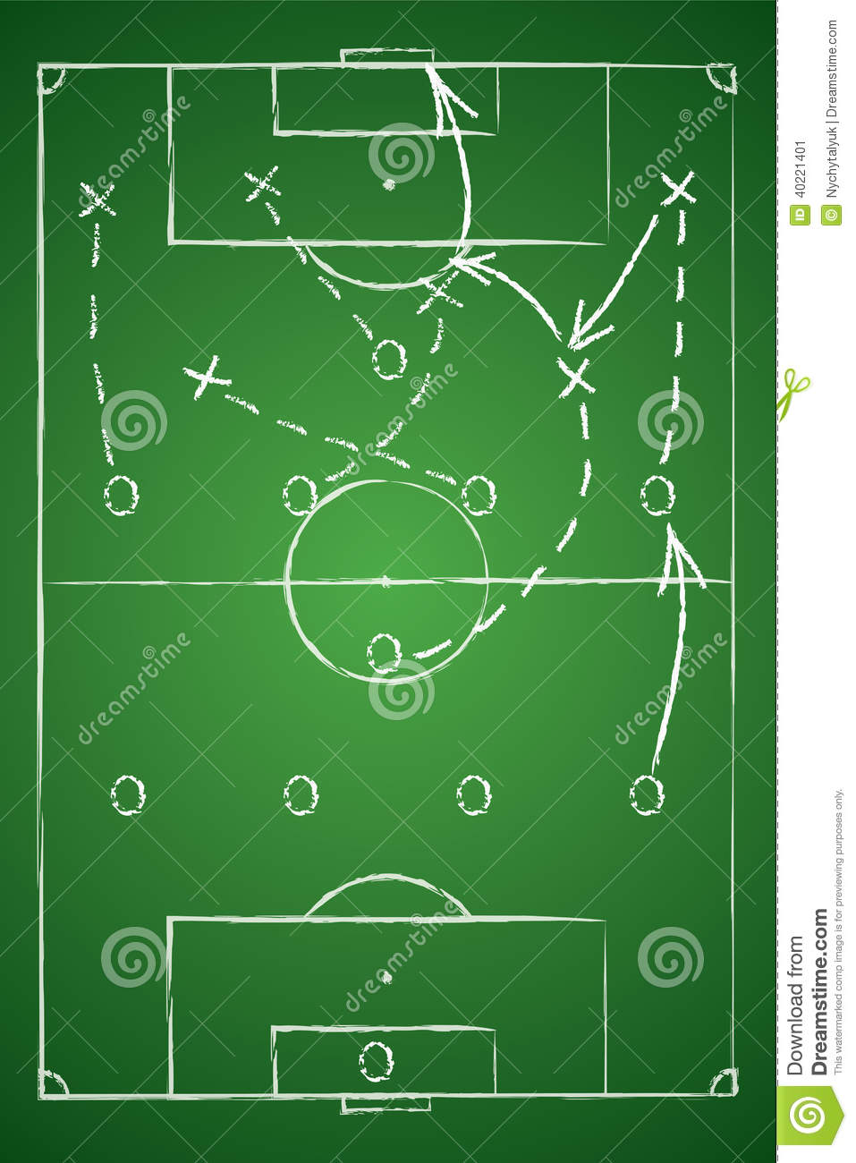 Soccer Tactic Table Stock Vector Image Of Green Attack
