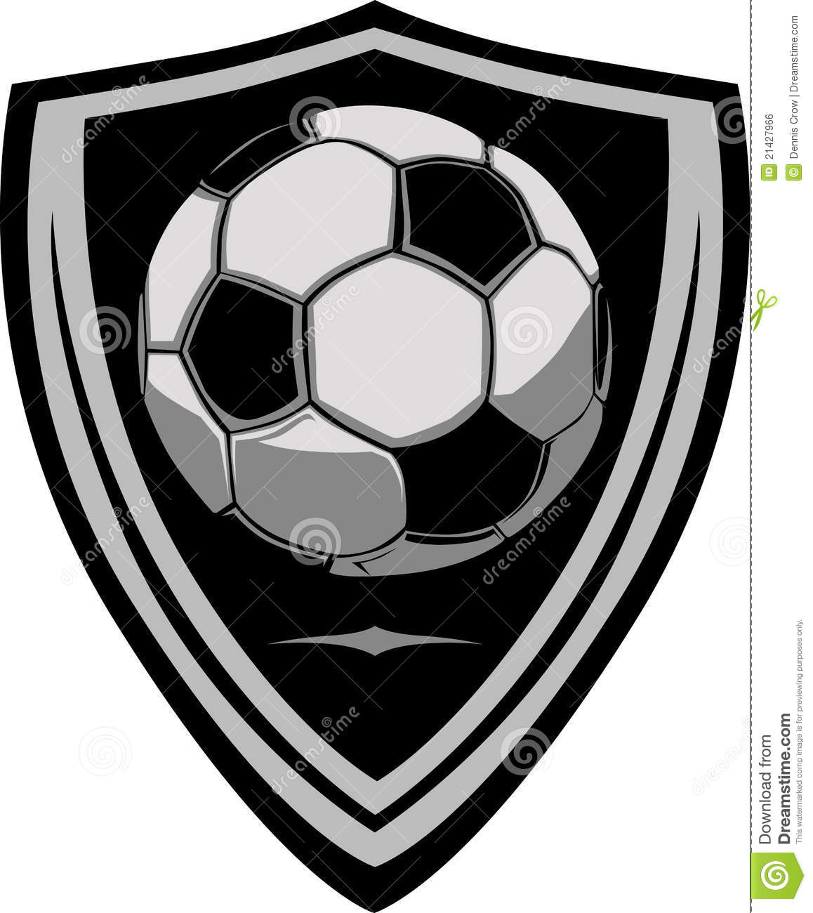 Soccer template with shield stock vector illustration of template soccer template with shield maxwellsz