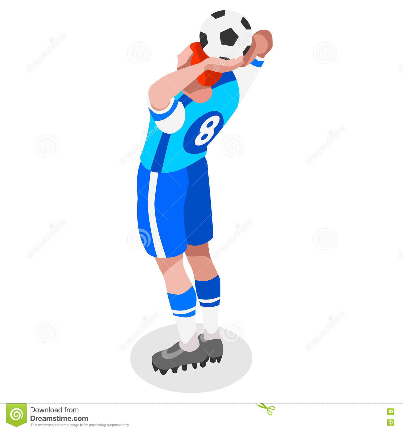 soccer throw player athlete sports icon set 3d isometric field rh dreamstime com Olympic Jump Rope Olympic Jump Rope