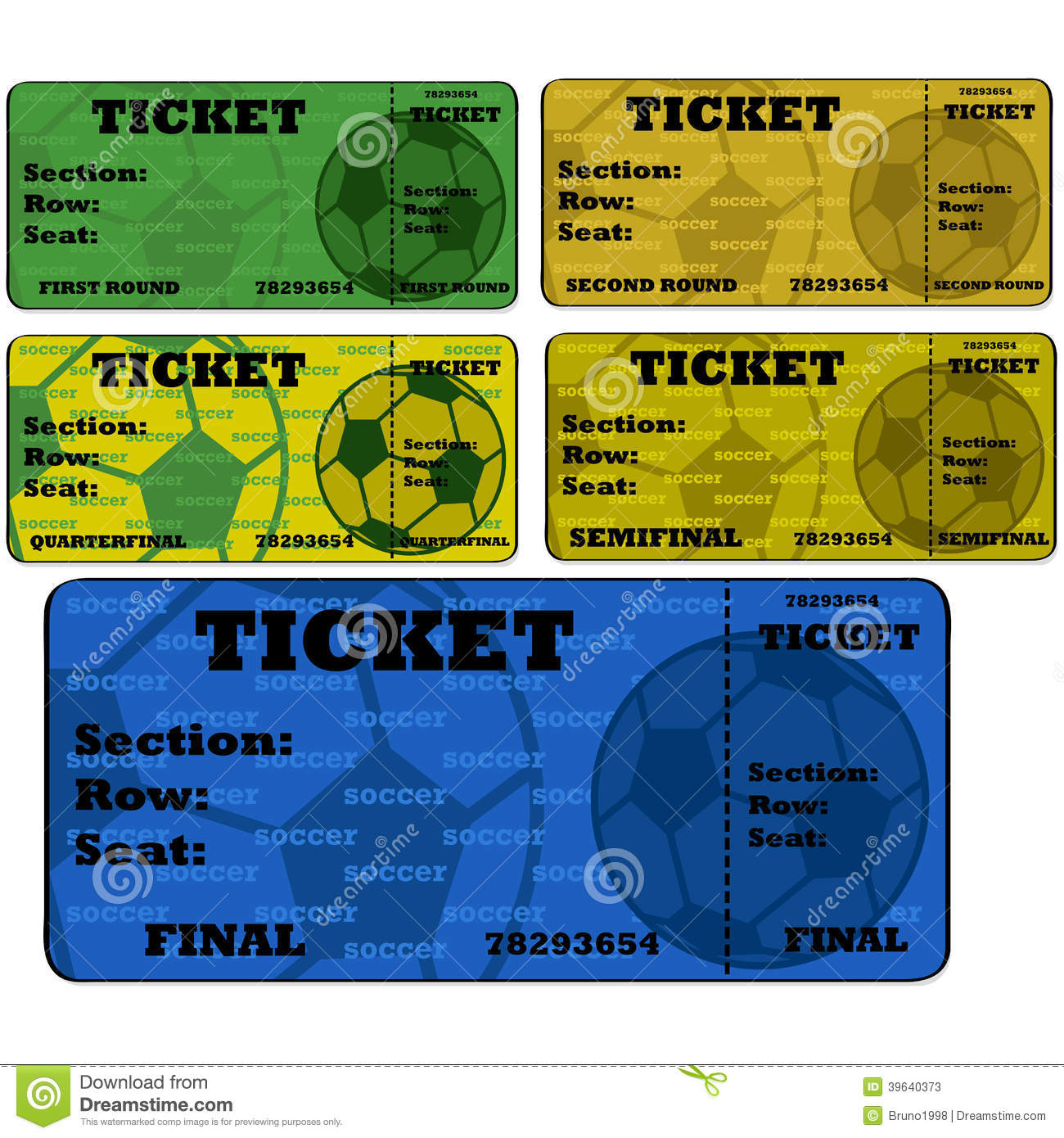 Blank Sports Ticket Template for PinterestShare on blank – Sport Ticket Template